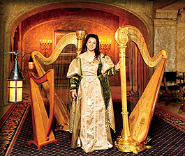 Harp Angel - harpist